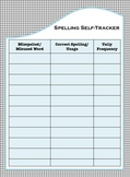 Student Self-Tracking Sheet for Spelling Errors