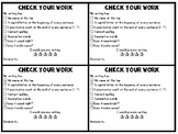 Student Self Writing Checklist