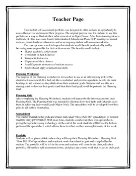 Student Self-assessment (Goal Writing Packet)