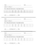 Student Self-reflection Data Sheet