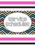 Student Service Schedule