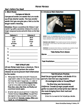 Student Sheets/Close Reading Unit 2 Week 4 Horse Heroes