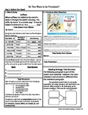 Student Sheets/Close Reading Unit 2 Week 5 So You Want to