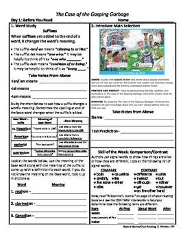 Student Sheets/Close Reading Unit 4 Wk 1 Main Selection Ca