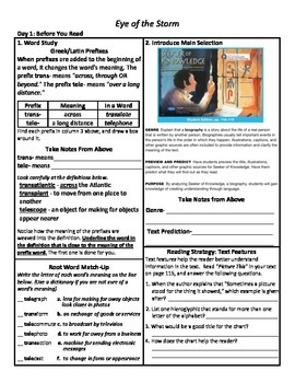 Student Sheets/Close Reading Unit 4 Wk 4 Main Selection Seeker of Knowledge