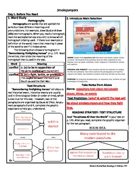 Student Sheets/Close Reading Unit 5 Wk 1 Main Selection Smokejumpers