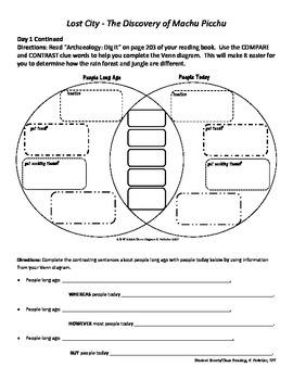 Student Sheets/Close Reading Unit 5 Wk 2 Main Selection Lost City