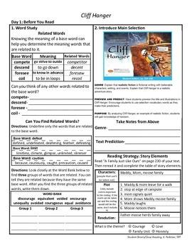Student Sheets/Close Reading Unit 5 Wk 3 Cliff Hanger
