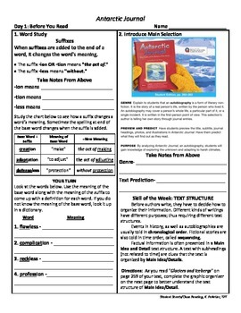 Student Sheets/Close Reading Unit 5 Wk 4 Antarctic Journal