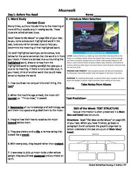 Student Sheets/Close Reading Unit 5 Wk 5 Moonwalk