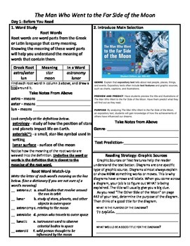 Student Sheets/Close Reading Unit 6 Wk 5 The Man Who Went to...Far Side of Moon