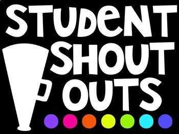Student Shout Out Slips