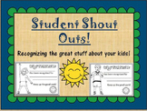 Student Shout Outs!
