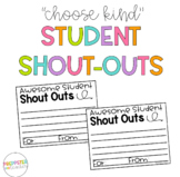 Student Shout-Outs