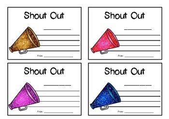 Student Shout Outs / Appreciation notes and display