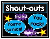 Student Shout Outs-Building Community