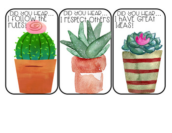 Student Shout-Outs Cactus Edition (EDITABLE)