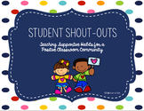 Student Shout-Outs: Cultivating a Positive Classroom Climate