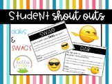 Student Shout Outs DABS and SWAGS