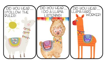 Student Shout-Outs Llama Edition