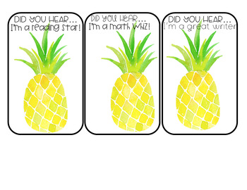 Student Shout-Outs Tropical Edition (EDITABLE)