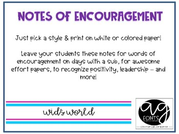 Student Shoutout Notes of Encouragement