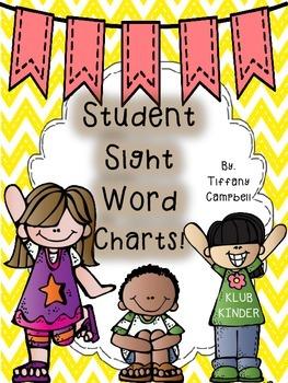 Student Sight Word Charts!