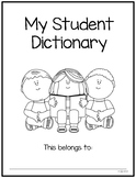 Student Sight Word Dictionary