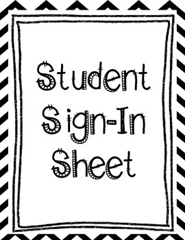 Chevron Student Sign-In Sheet
