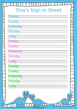 Student Sign-in Sheets Freebie