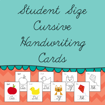 Student Size Cursive Handwriting Cards