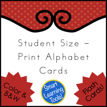 Student Size - Print Alphabet Cards
