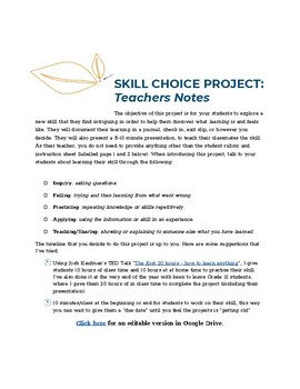 Student Skill Choice Project
