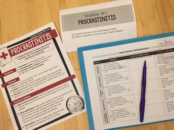 """Goal-Setting Unit & Posters: Curing """"Procrastinitis"""" and Student Diseases"""