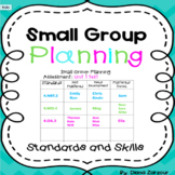 Student Small Group Planning Organizers
