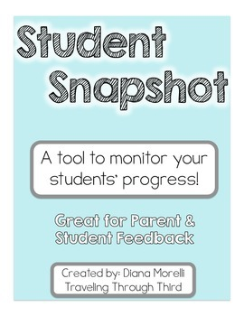 Student Snapshot - An alternative to Progress Reports