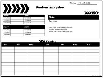 Student Snapshot Sheet