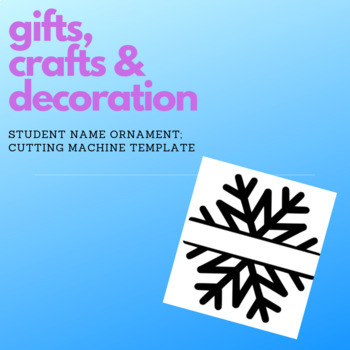 Student Snowflake SVG (PERSONAL USE ONLY)