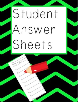 Student Answer Sheets