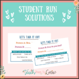 Student Solutions- Help students solve their problems one on one