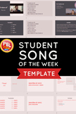 Student Song of the Week Template