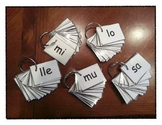 Spanish Syllable Cards!