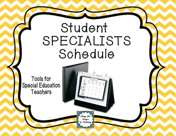 Student Specialists Schedule
