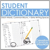 Student Spelling Dictionary / My Writing Words