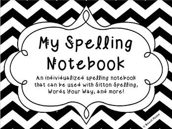 Student Spelling Notebook