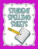 Student Spelling Papers