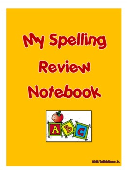 Student Spelling Review Notebook