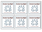 Student Spotlight  - Individual Student Books (9 pages) and Wearable Badges