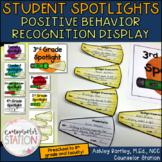 Student Spotlights Positive Behavior Recognition Printable Display and Spotlight