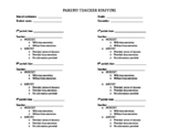 Student Staffing Form